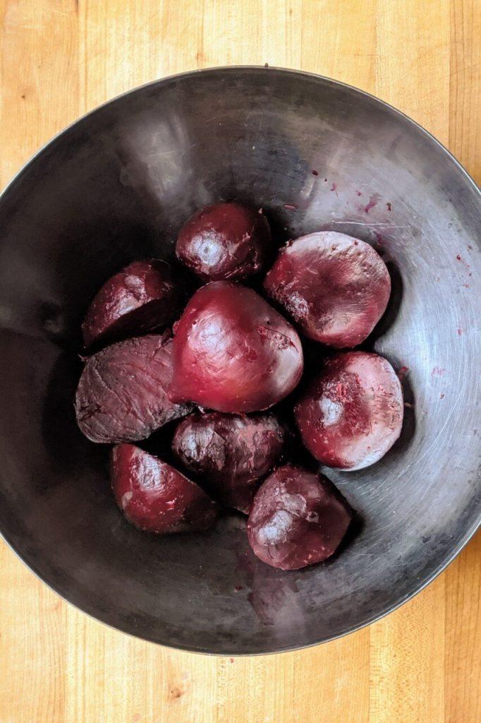 Bowl of Oven Roasted Beets