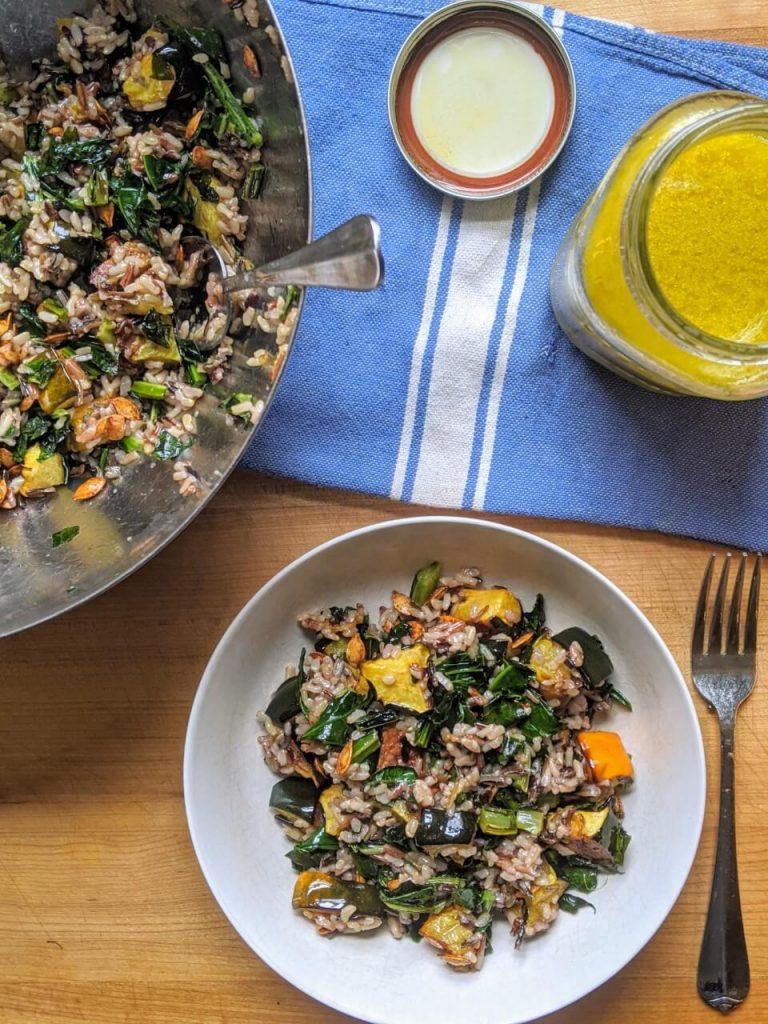Winter Squash Grain Bowl Meal