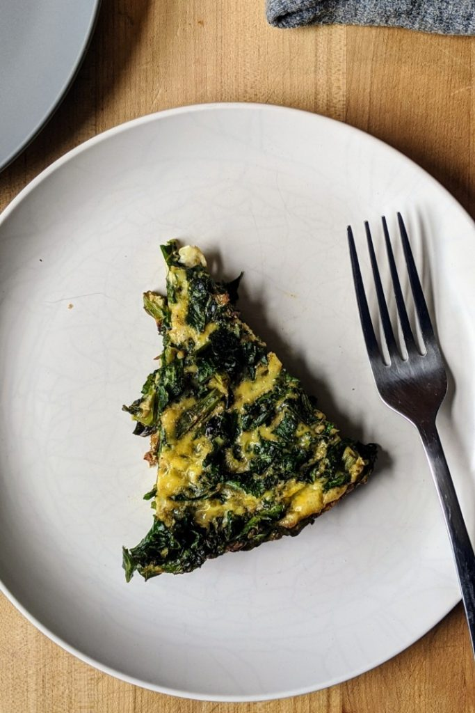 Vegetable Cast Iron Frittata Slice