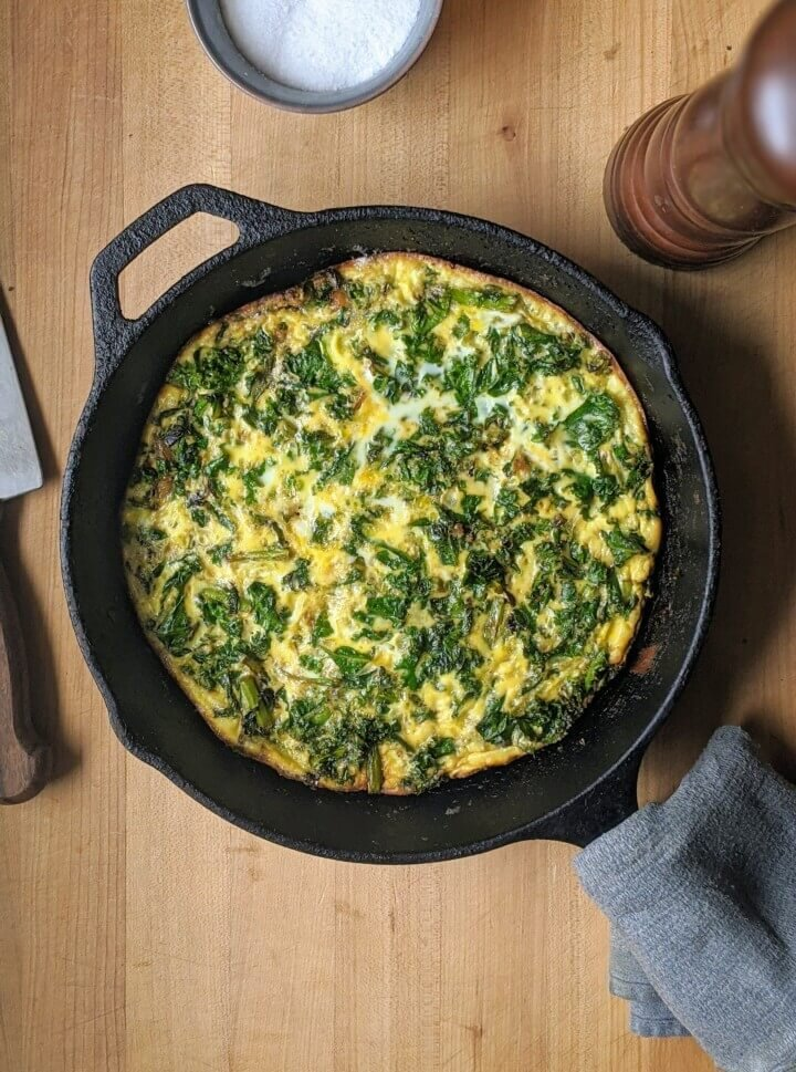 Vegetable Cast Iron Frittata
