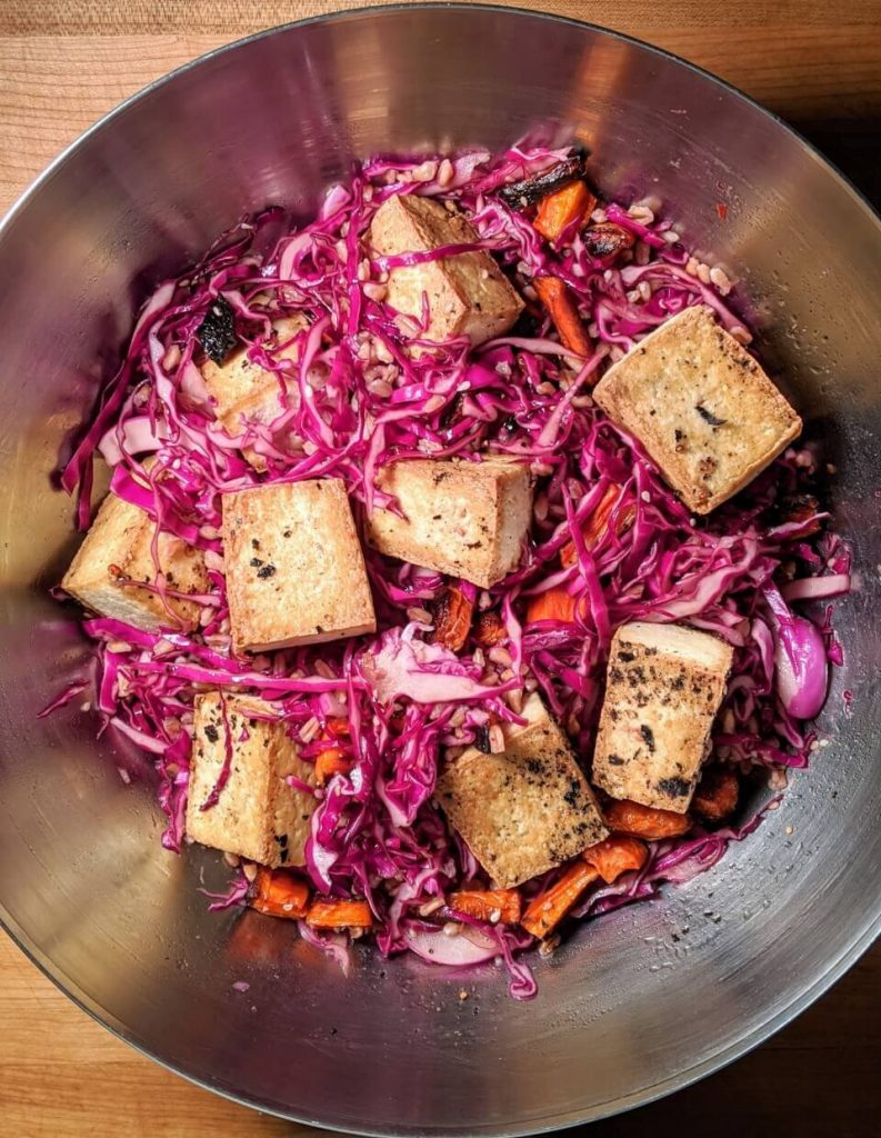 Asian slaw salad bowl