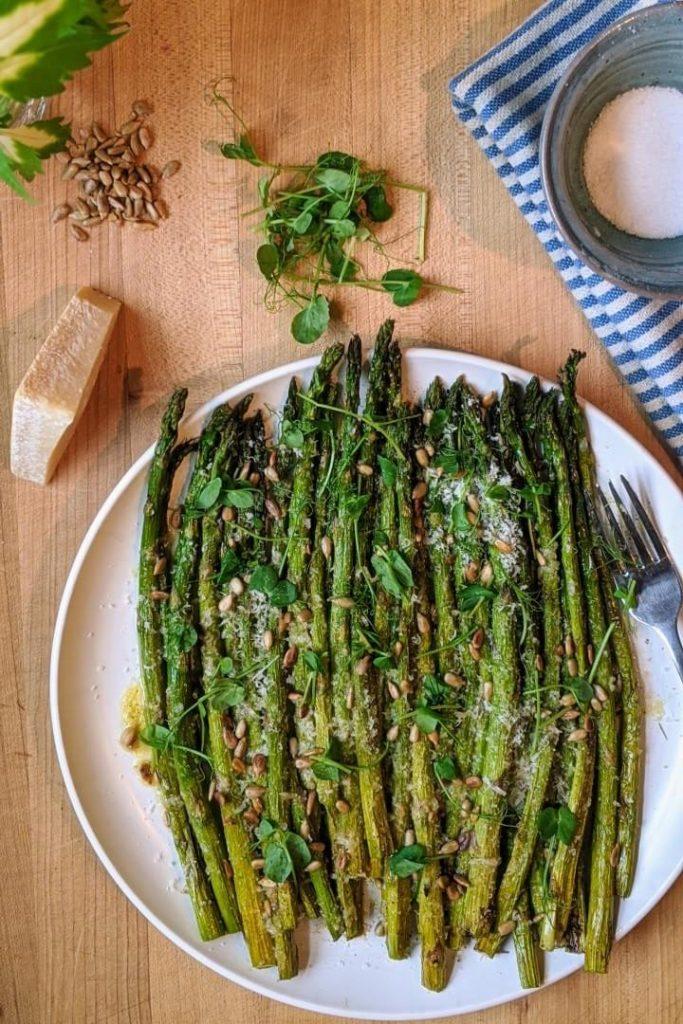 Roasted Garlic Parmesan Asparagus Meal