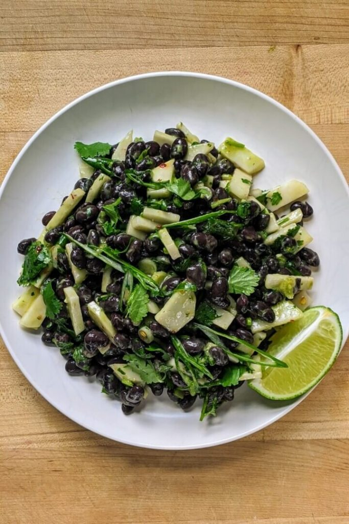 Black Bean Salad with Avocado Lime Dressing Recipe