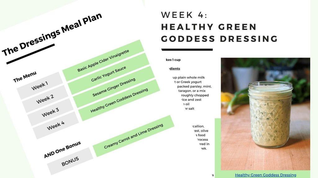 Salad Dressings Meal Plan