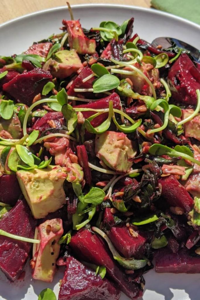 Roasted Beet and Avocado Salad Vegan Ingredients
