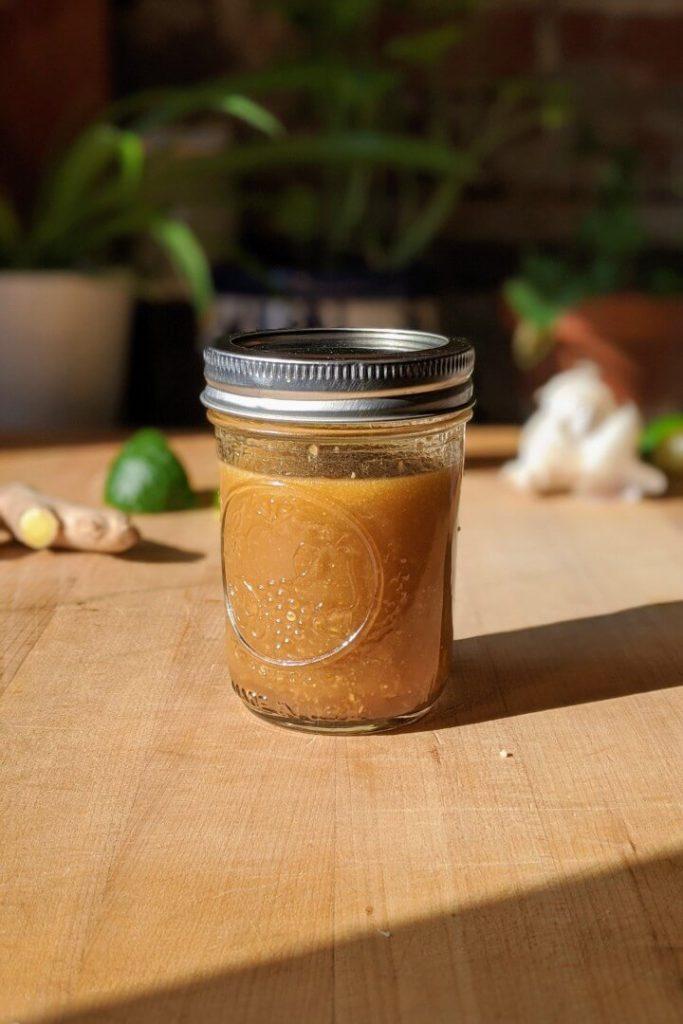 Sesame Ginger Dressing in a Jar