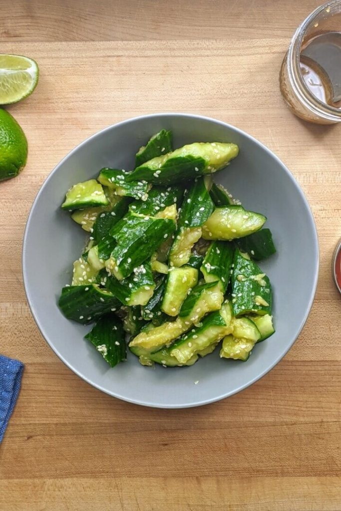 Asian Smashed Cucumber Salad