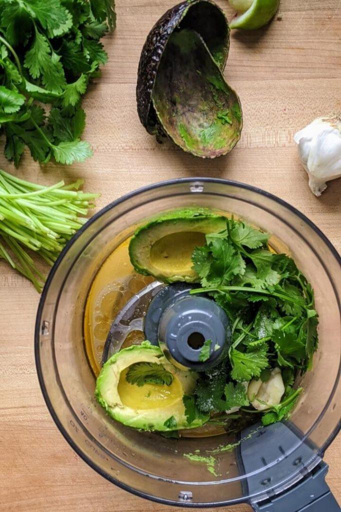 Avocado Dressing Ingredients