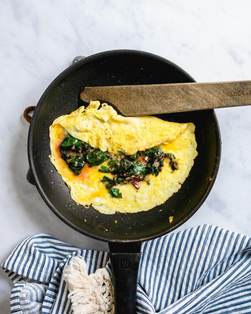 beet greens omelet