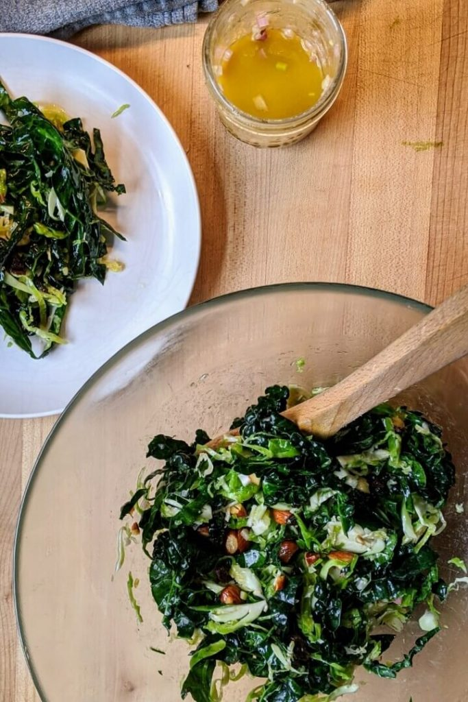 Shaved Brussels Sprout and Kale Salad Recipe