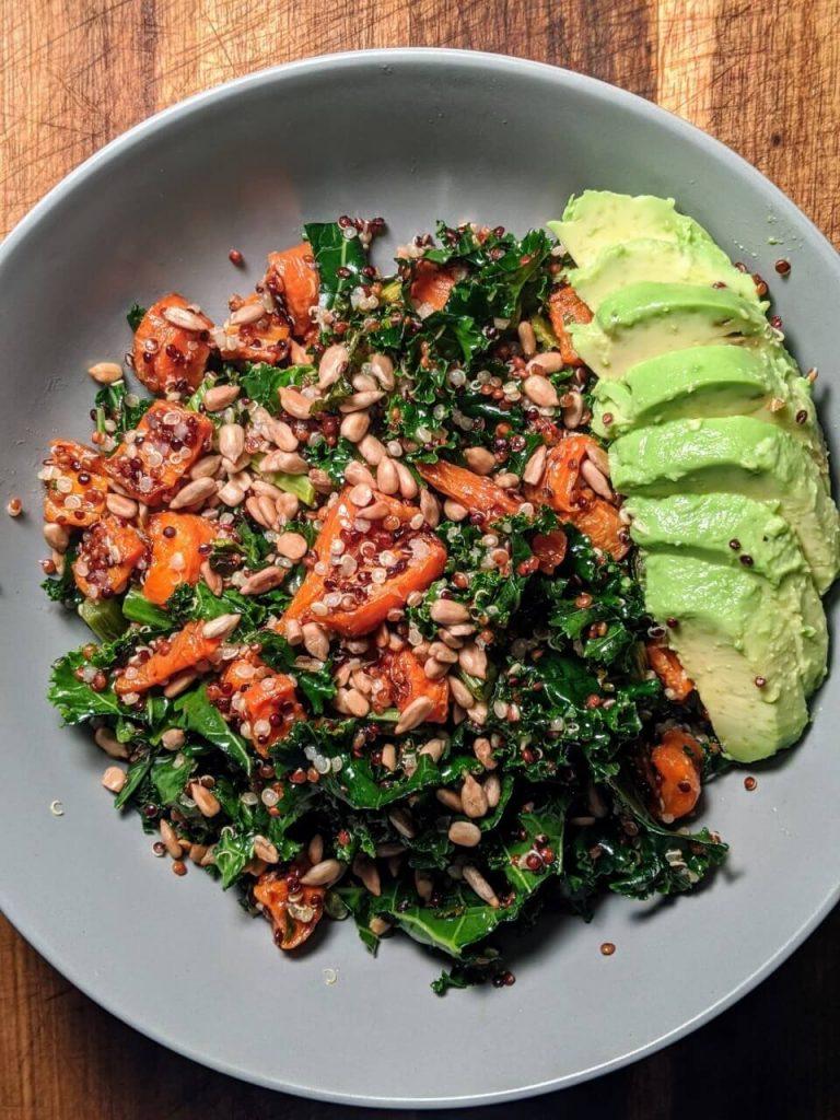 Kale and Quinoa Salad with Avocado