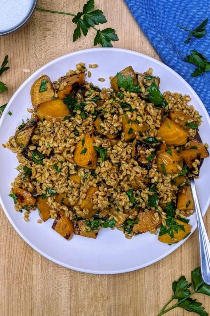 Roasted Beet and Farro Salad Recipe