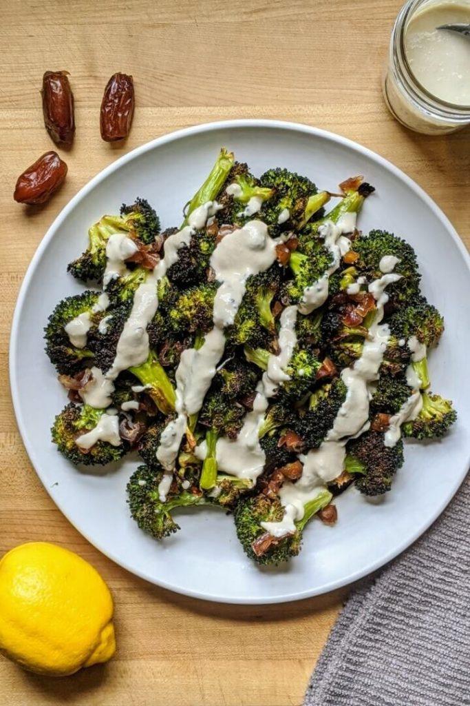 Roasted Broccoli Salad with Tahini Sauce Recipe