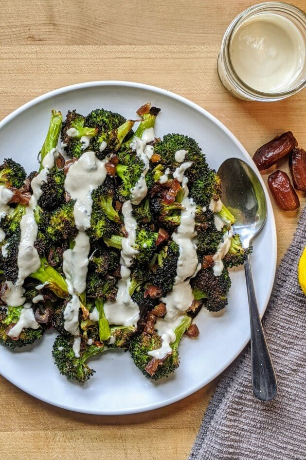 Roasted Broccoli Salad with Tahini Sauce Recipe