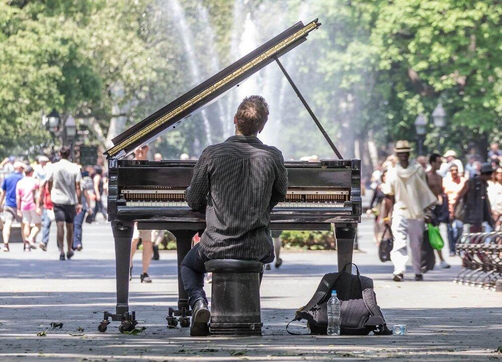 Piano Guy Washington Square NYC