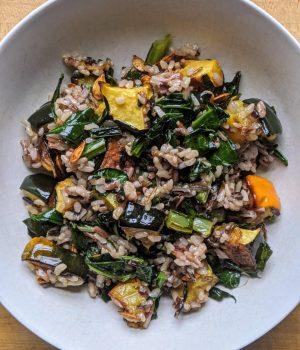 Winter Squash Grain Bowl with Wild Rice