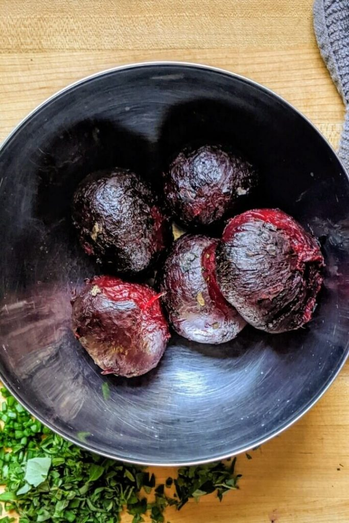 Grilled and Peeled Beets