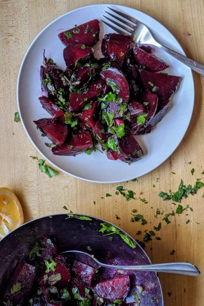 Grilled Beet Salad with Lemon and Herbs Meal