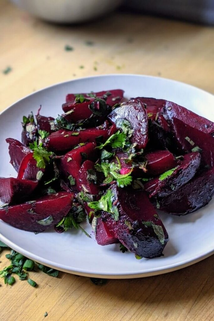 Grilled Beet Salad with Lemon and Herbs
