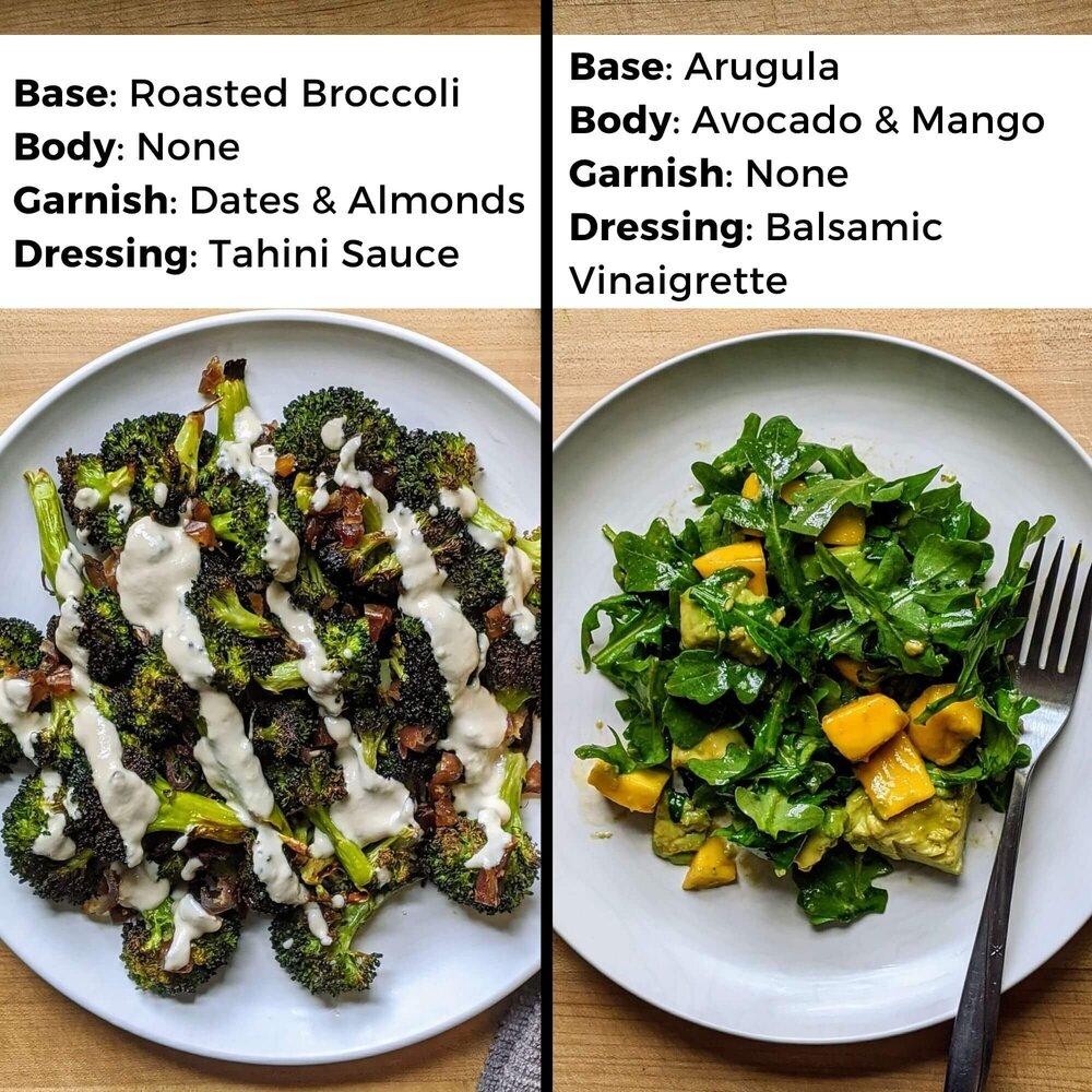 salad component comparison