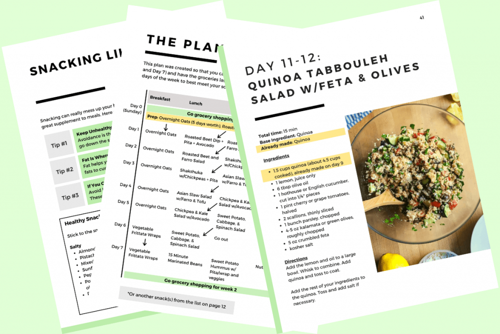 14 Day Vegetarian Meal Plan