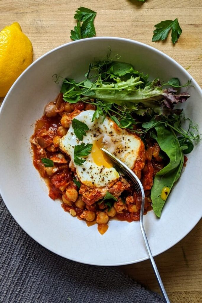 Easy Shakshuka With Chickpeas Recipe