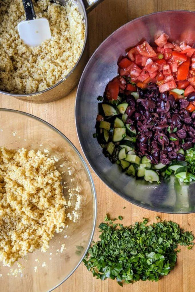 Quinoa tabbouleh recipe ingredients