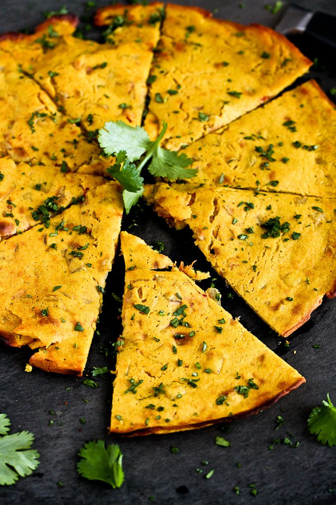 Indian Spiced Flatbread Socca