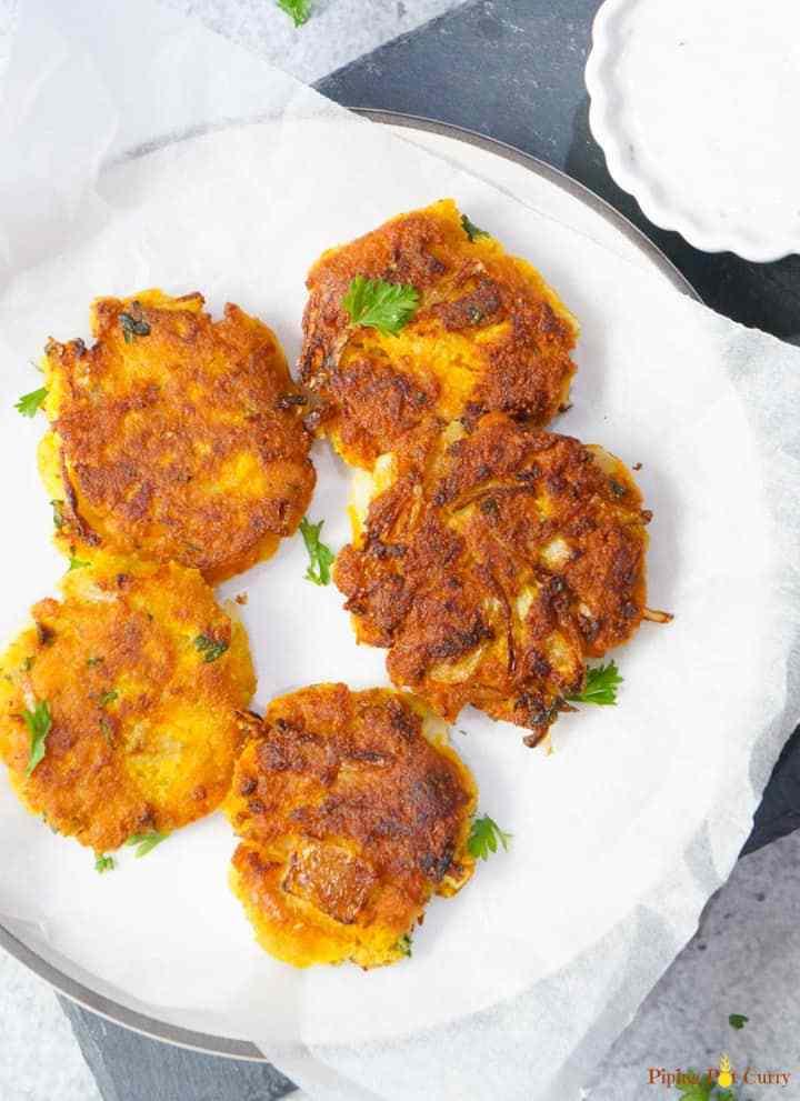 Vegan chickpea squash fritters