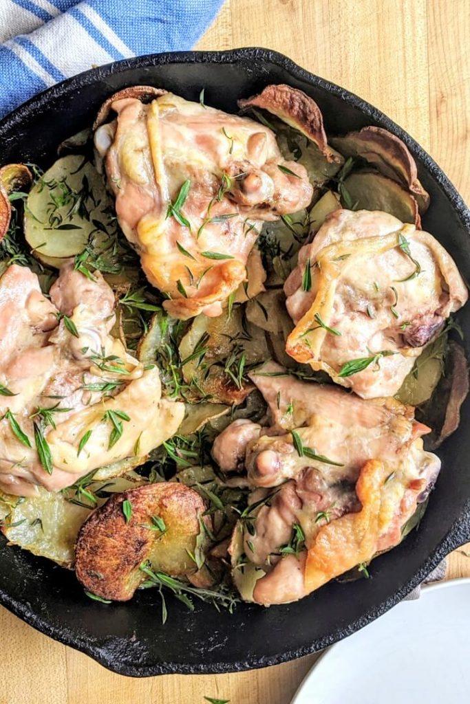 Cast iron skillet chicken