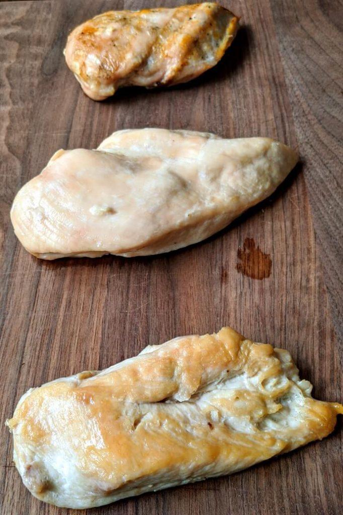 Chicken breast three ways