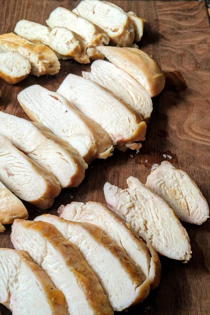 Chicken breast cooked three ways