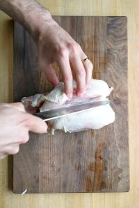 how to cut a whole chicken breasts