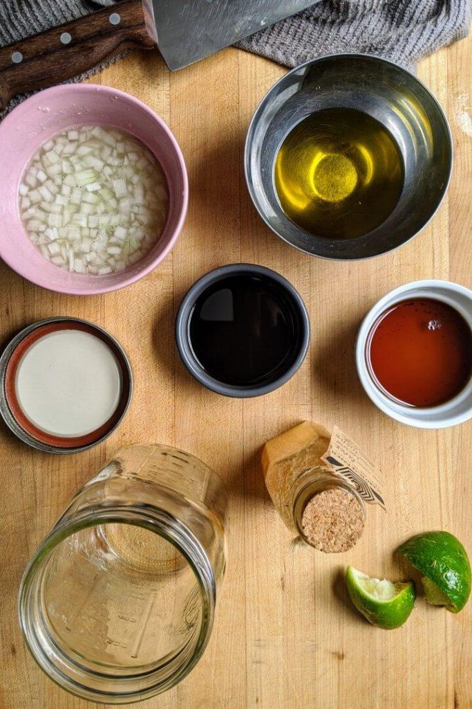 Sesame lime vinaigrette ingredients