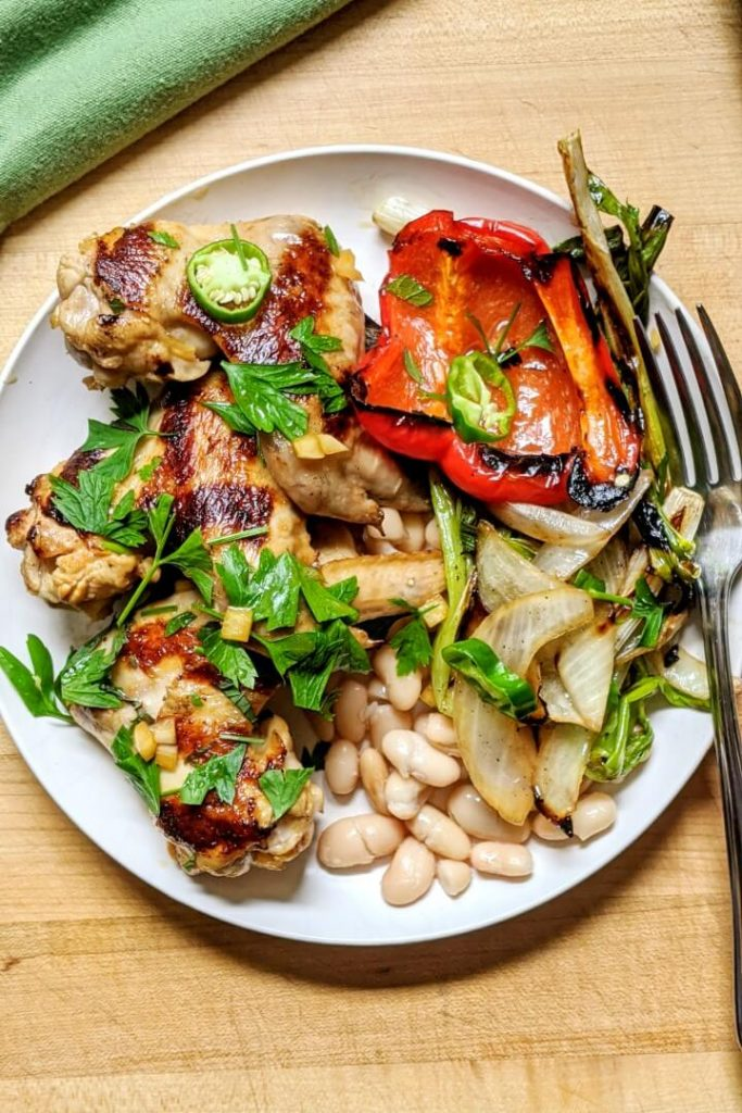 Sesame lime grilled chicken wings