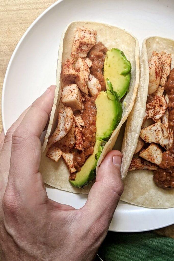 Sheet pan chicken breast tacos