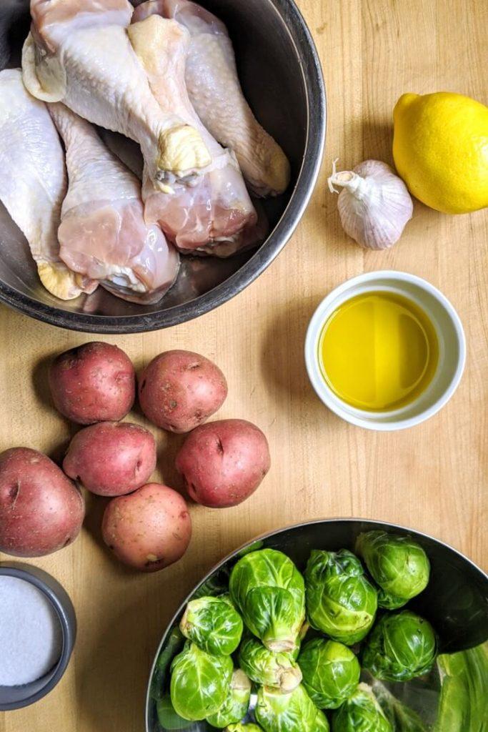 Sheet pan lemon chicken ingredients