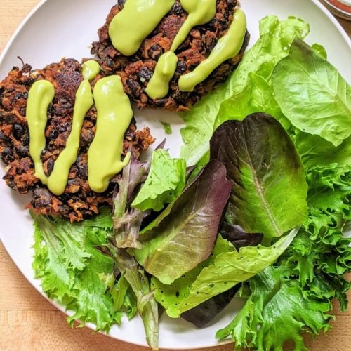 Vegan black bean patties