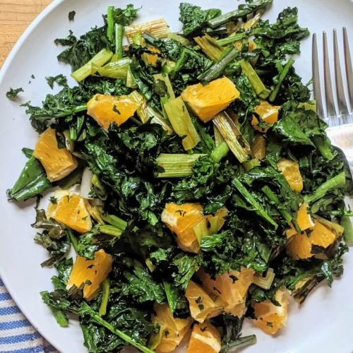 Grilled Kale Salad with Citrus and Scallions