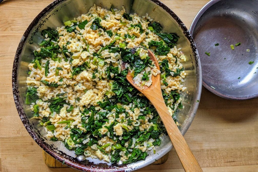Healthy Kale Fried Rice