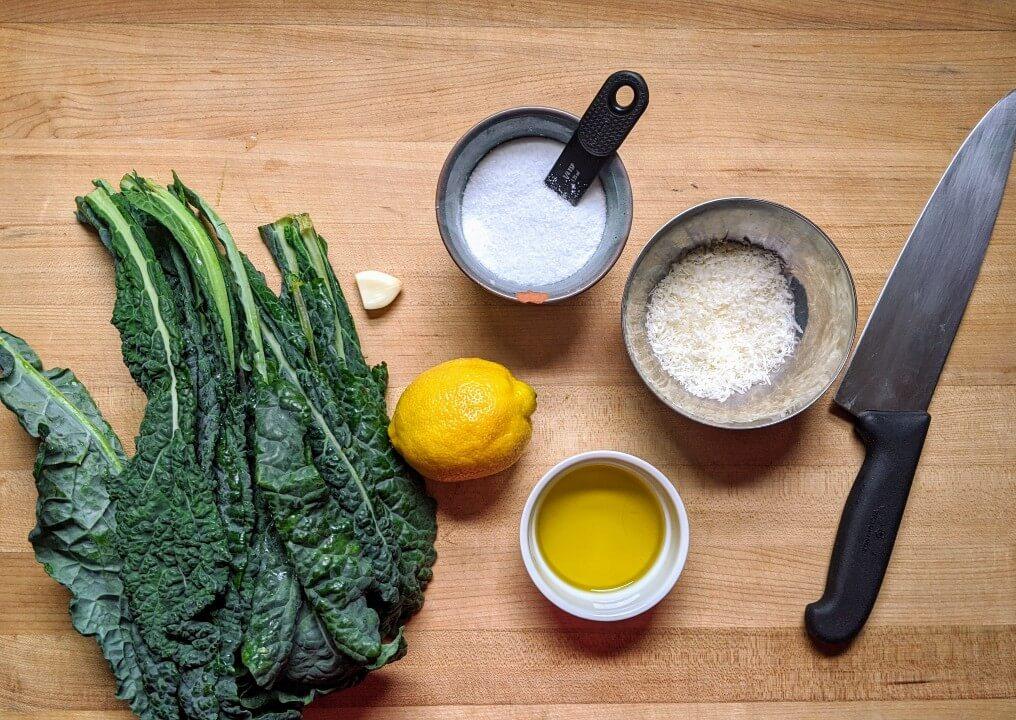 Simple Kale Salad Recipe Ingredients