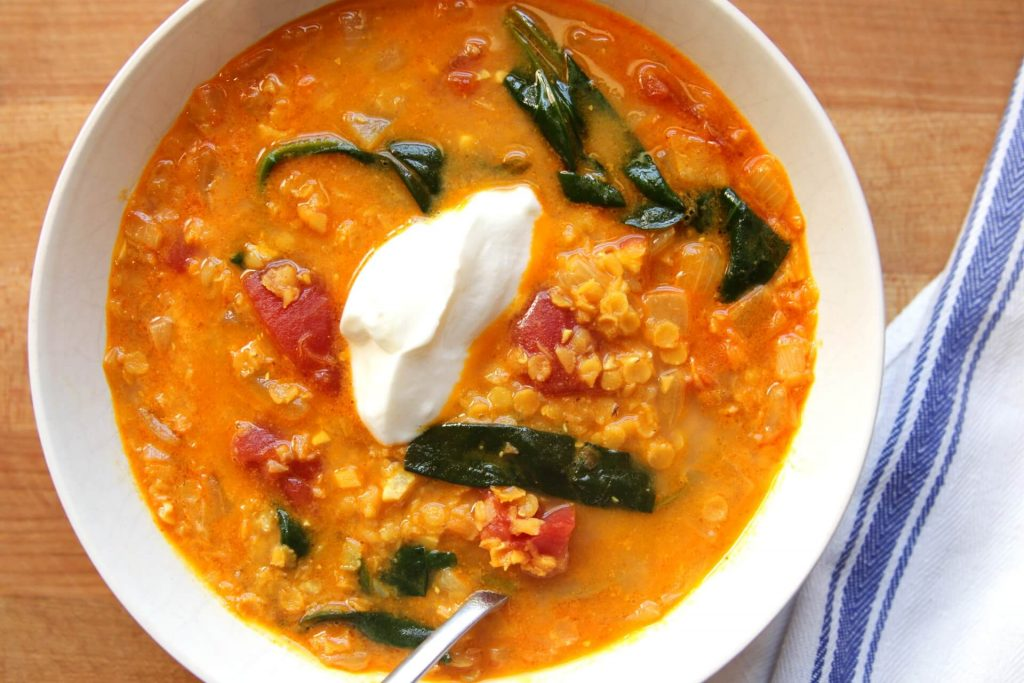 hearty lentil coconut